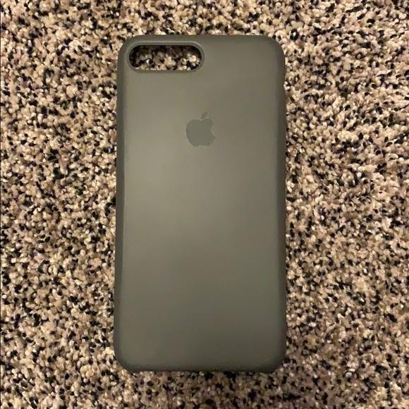 low priced d7e45 6f66e Apple silicone phone case in dark olive